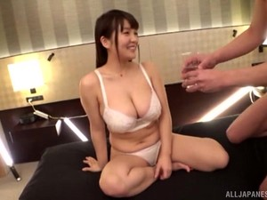 Oiled And Chubby Asuan Gets Her Tight Cunt Pounded By Her Horny Friend