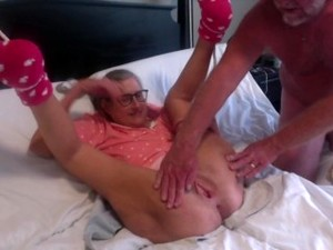 Hot MILF Gets Tied Up By Hubby Getting Ready Fucking Mature Granny Gilf