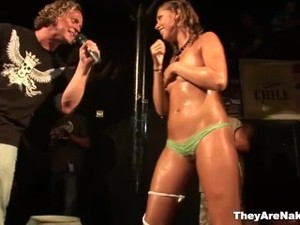 Wet T-shirt Contestants Gets Completely Naked