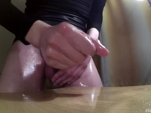 HOT TS H.P. UNLOADING HER BIG BALLS AND BIG DICK WITH CUM