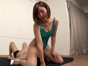 Super Hot Shiny Thong Swimsuit On A Hot Japanese Babe