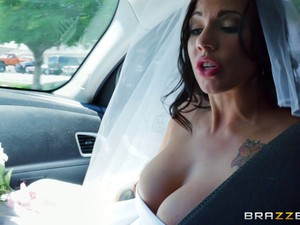 Dark-haired Cutie Passionately Rides The Dick After The Wedding