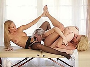 Blonde Squirts And Stepmom And Doctor Help