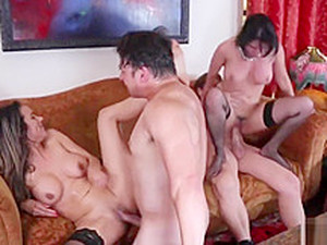 Busty Babes Nadia Styles And Charley Chase In A Foursome