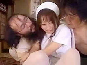 Mika Osawa Nurse Is Fucked In Threesome