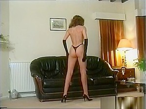 Lady In Leather Lingerie 2