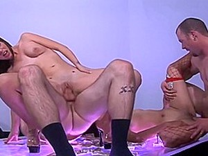 Sexy Striptease Transfroms Into A Hot Orgy