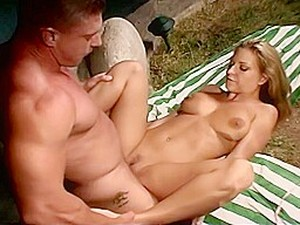 Smoking Hot Blonde Avy Scott Gets Fucked By A Guy In The Pool
