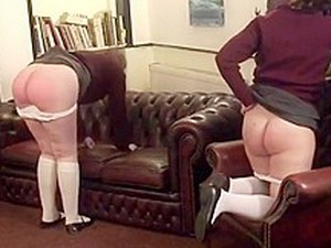 Two Schoolgirls Spanked