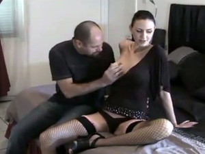 Tall & Leggy Slut In Black Stockings Asks Me To Lick And Fuck Her Pussy