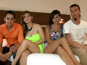 Two Swingers Exchange Their Hot Wives In The Group Sex