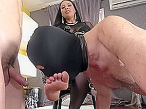 Slave Challange. Mistress Make Loser Lick Cum From Her Feet
