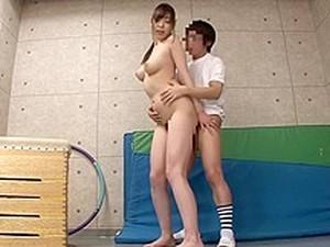 Crazy Japanese Slut In Exotic Gym, MILF JAV Video