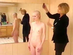 Standing Naked Head Shave