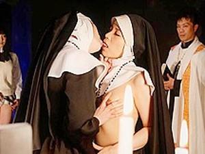 Lesbian Action With Freaky Japanese Nuns - AviDolz