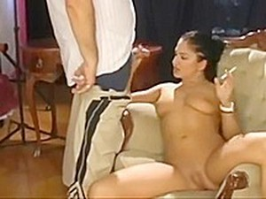 Young Slut Lives To Chain Smoke And Get Sprayed With Cum