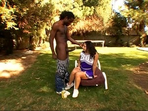 Fine Ass Cheerleader Victoria In Uniform Fucked In Interracial Porn