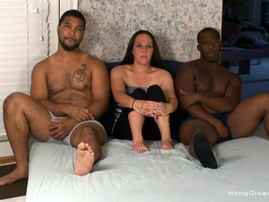 Two Black And Horny Dudes Are Going To Destroy A Cunt Of Cute Brunette