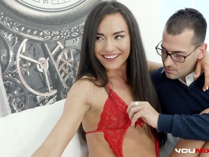 Nataly Gold Fucked In The Ass And Mouth By Boyfriend And Sex Therapist