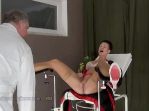 Gyno Chair Pussy Slapping