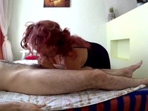 Mom With A Big Ass Does Blowjob To Stepson. Mother Loves Anal Sex