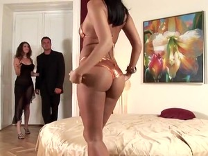 Brunette Anal 3some