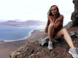 Avid Climber Angel B Would Love To Masturbate Right On The Rocks
