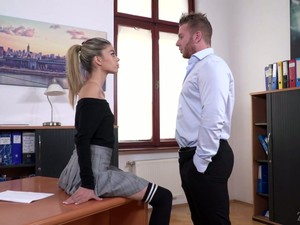 Zealous Skinny Chick Ciara Riviera Is Fucked Doggy Style Really Hard