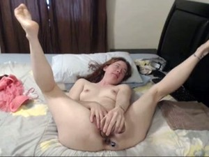Amateur Ugly And Perverted Pale Brunette Bitch Was Masturbating For Orgasm