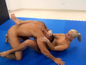 Nude Wrestling Evolves Into A Powerful Handjob