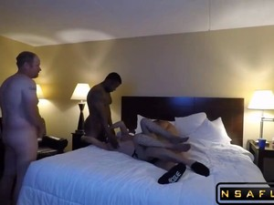 Hot MILF Has Surprise Gangbang In Hotel Room With Hubby Part 2