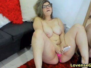 Horny Teacher With Glasses Gets Off On Webcam