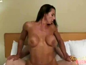 Muscle Girl Riding, Reverse Cowgirl