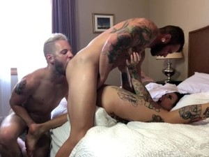 Jordan Skye's FIRST Bisexual MMF Threesome With Johnny Hill