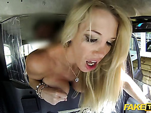 Fucking A Bimbo Slut In The Back Of His Taxi