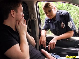 Banging Mercedes Carrera In Front Of A Car And Having Much Fun