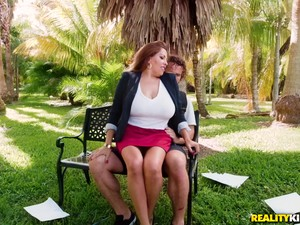 Alessandra Miller Seduces A Fellow For A Fuck On A Park Bench