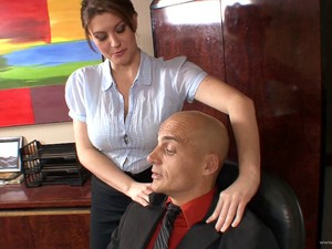 Curvy Babes With Big Tits Enjoying Being Screwed Hardcore Ontop Of Office Desk