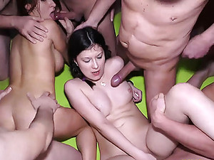 German Teens Wild Groupsex Fucked