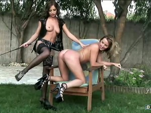 Kinky Krissy Thorn Is Ready For Some Wild Lesbian Intercourse Outdoors