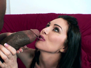 Nasty Brunette Bitch Rayveness Gets Pleased By A Hot Black Man