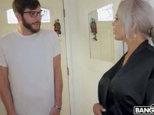 After Giving BJ In The Bathroom German Blondie Nina Elle Rides Stiff Prick