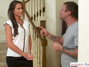 Fabulous MILFie Housewife Sofie Marie Greets Neighbor With Awesome BJ