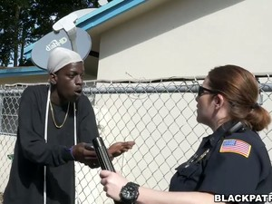 Two Slutty Police Officers Take Advantage Over Black Scofflaw