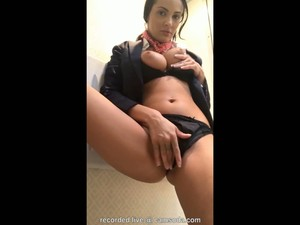 Busty Stewardess Fingers