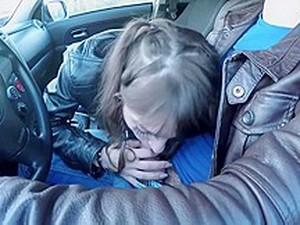 В машине,Кожа