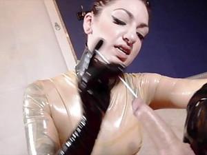 绑缚调教,女生控制,乳胶