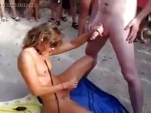Strand,Bukkake,Französischer Porno,Gangbang,Nudistin