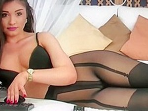 Wow, A Real Goddess In High Heels And Pantyhose Tease, She Is Amazing