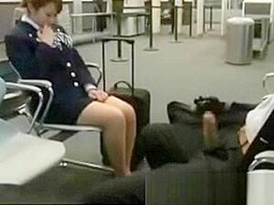 Stewardess Being Fucked On Plane